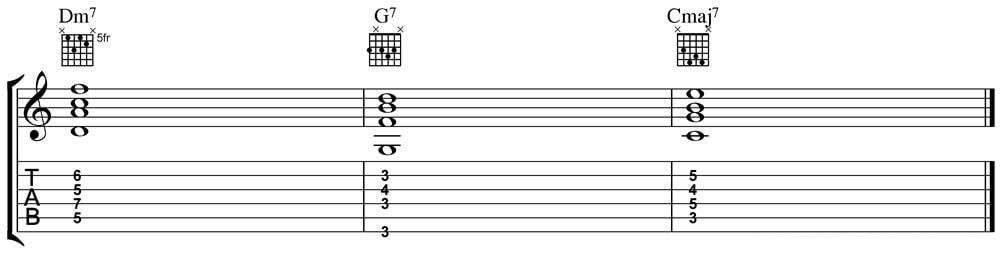 jazz chord progression guitar