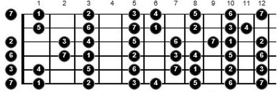 music theory on the guitar fretboard