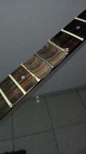 scalloping a guitar fretboard