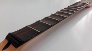 scalloping a guitar fretboard process